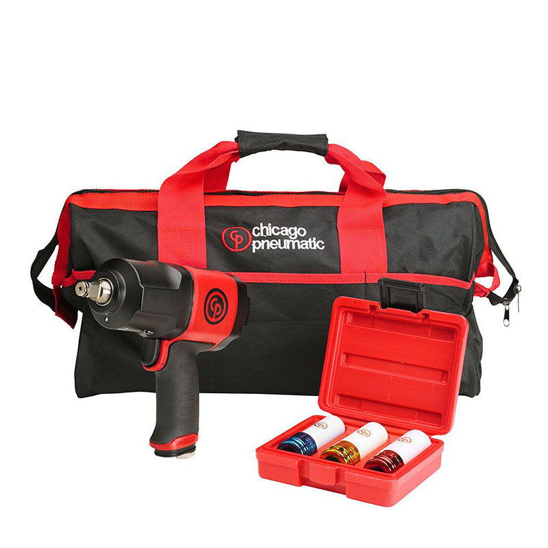 """Chicago Pneumatic CP7748 1/2"""" Impact Wrench and Socket Kit"""