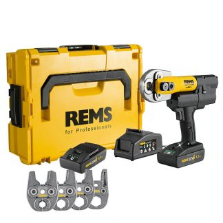 REMS Mini Press ACC 22v Radial Press Jointing Tool Basic Pack With Jaws