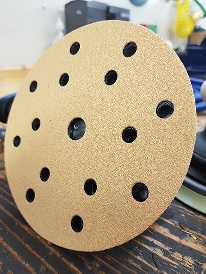 "Mirka Gold 150mm 6"" 15 Hole Sanding Disc"