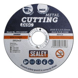 PTC/115CET5 Sealey Metal Cutting Disc - Pack Of 5
